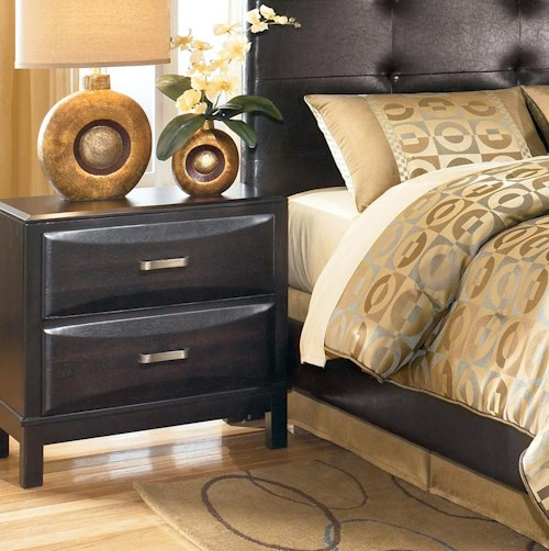 Ashley Furniture Kira 2 Drawer Night Stand Godby Home Furnishings Night Stands Noblesville
