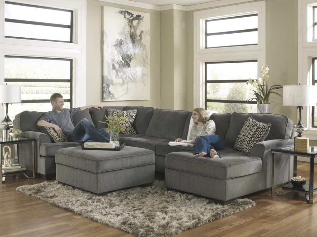 Ashley Furniture Loric - SmokeOttoman With Storage