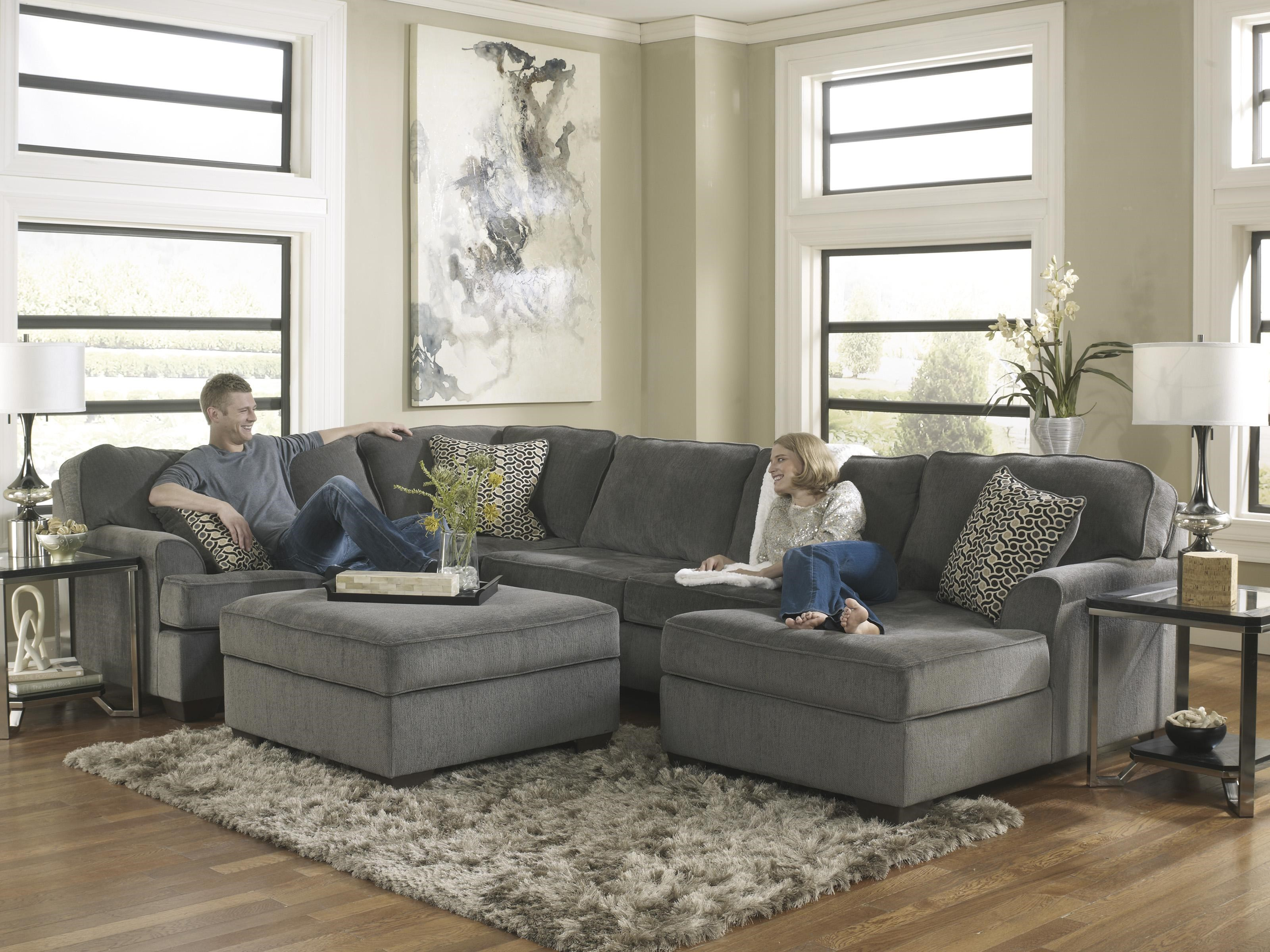 Loric   Smoke Square Cocktail Ottoman With Storage U0026 Removable Top By Ashley  Furniture
