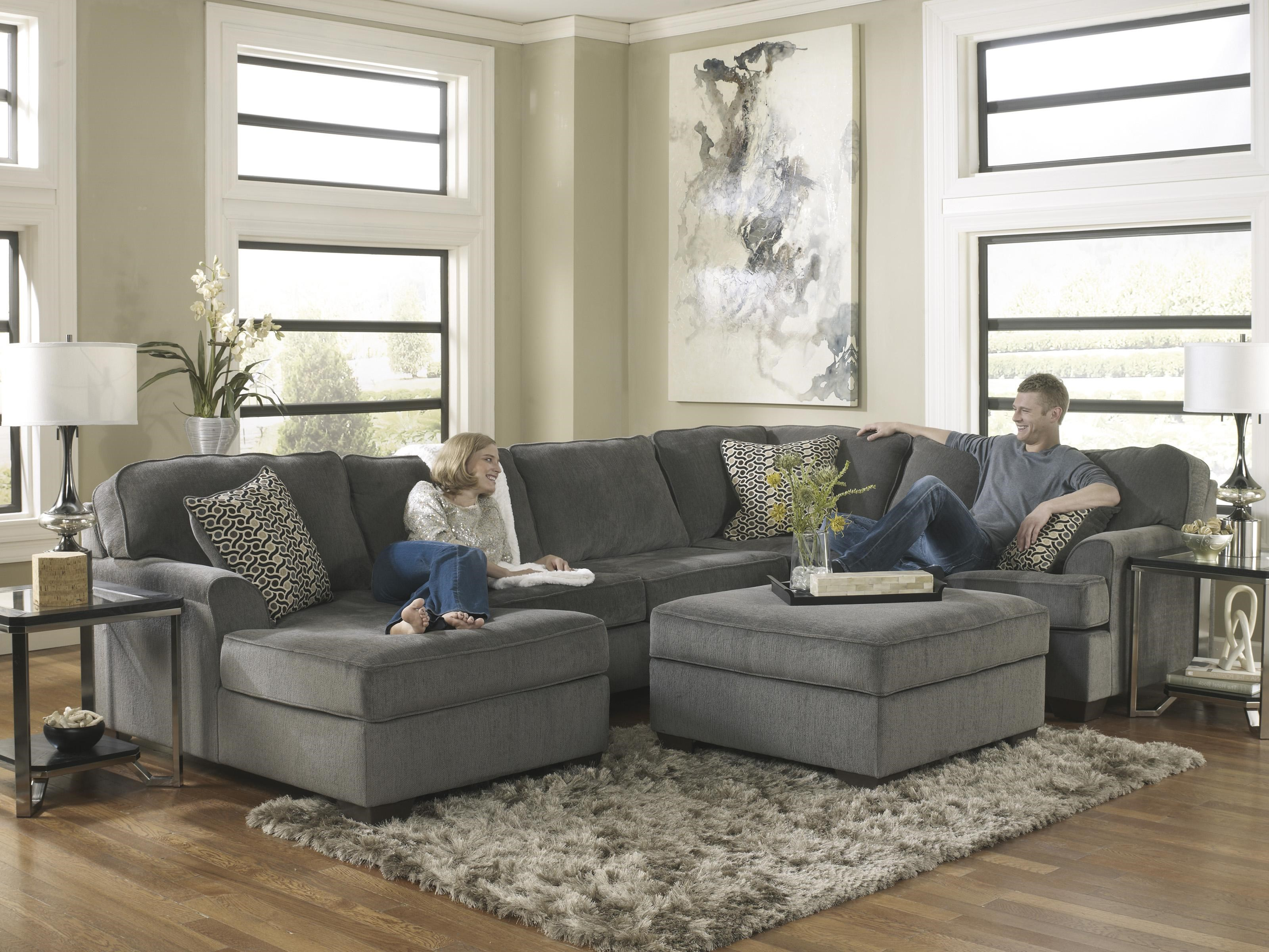 Loric - Smoke Contemporary 3-Piece Sectional with Left Chaise by Ashley Furniture : ashley furniture sectional with chaise - Sectionals, Sofas & Couches