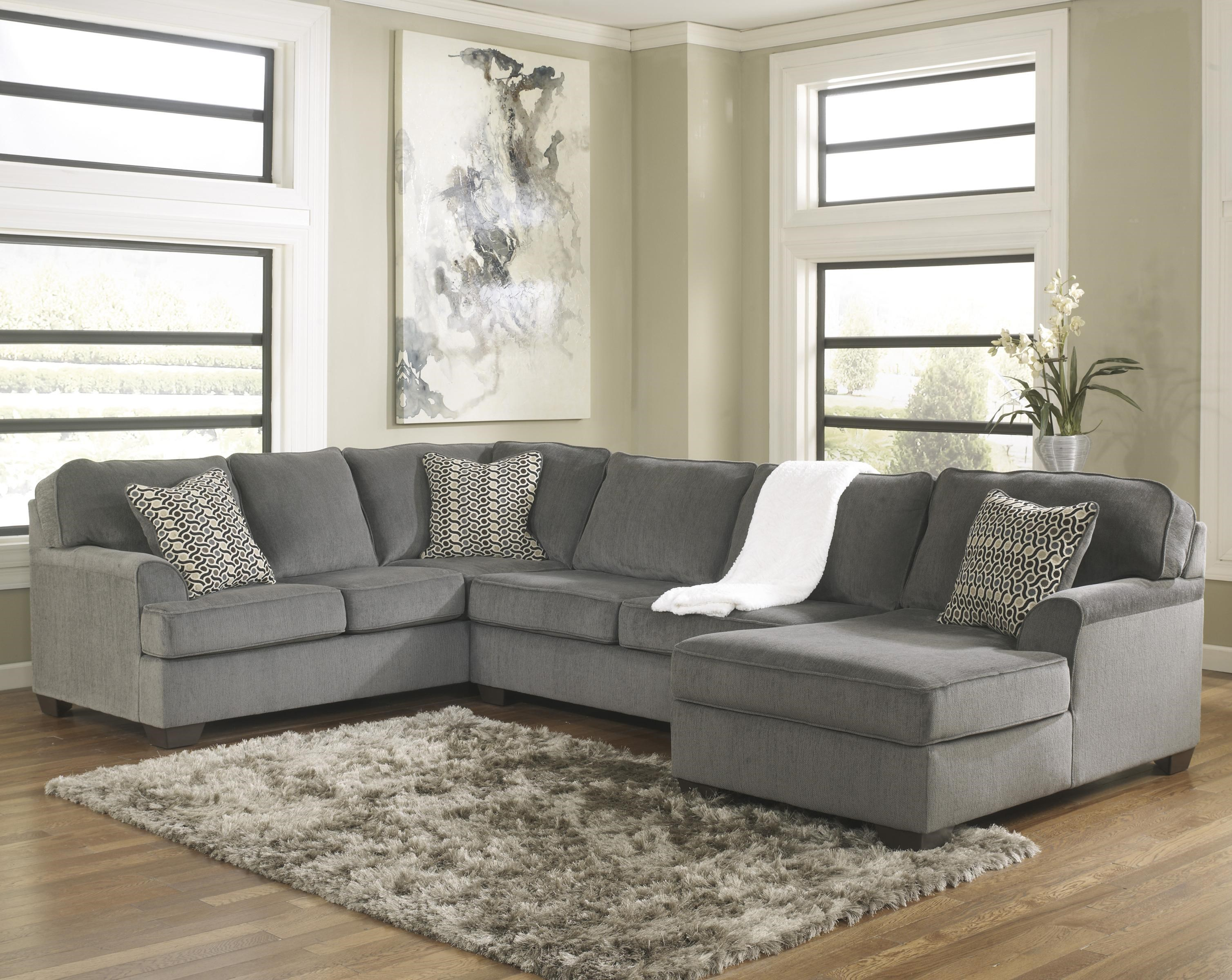 Perfect Ashley Furniture Loric   SmokeContemporary 3 Piece Sectional With Chaise ...