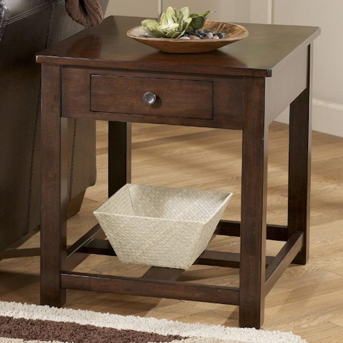 Signature Design By Ashley Marion Rectangular End Table With Drawer Wayside Furniture End Table