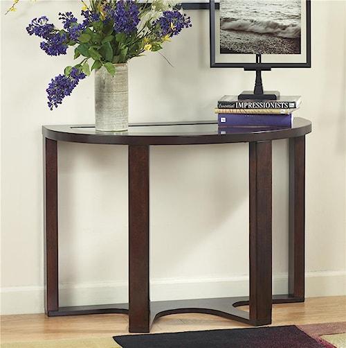 Signature Design By Ashley Marion Demilune Sofa Table Turk Furniture Sofa Table Joliet La