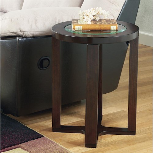 Signature Design by Ashley Marion Glass Round End Table