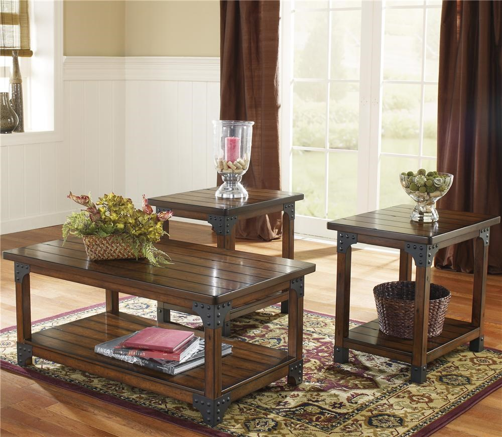 Traditional 1 Cocktail Table and 2 End Table Pack