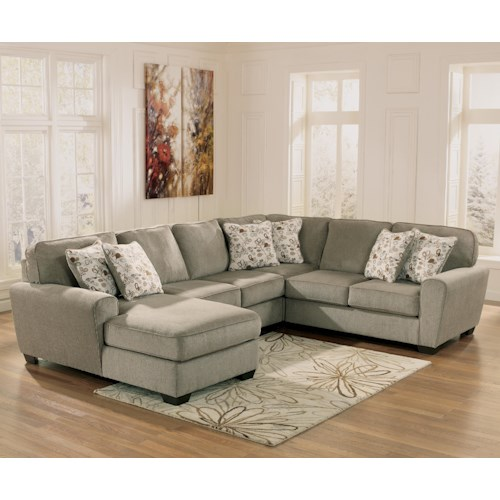 Ashley furniture patola park patina 4 piece small for 4 piece sectional sofa with chaise