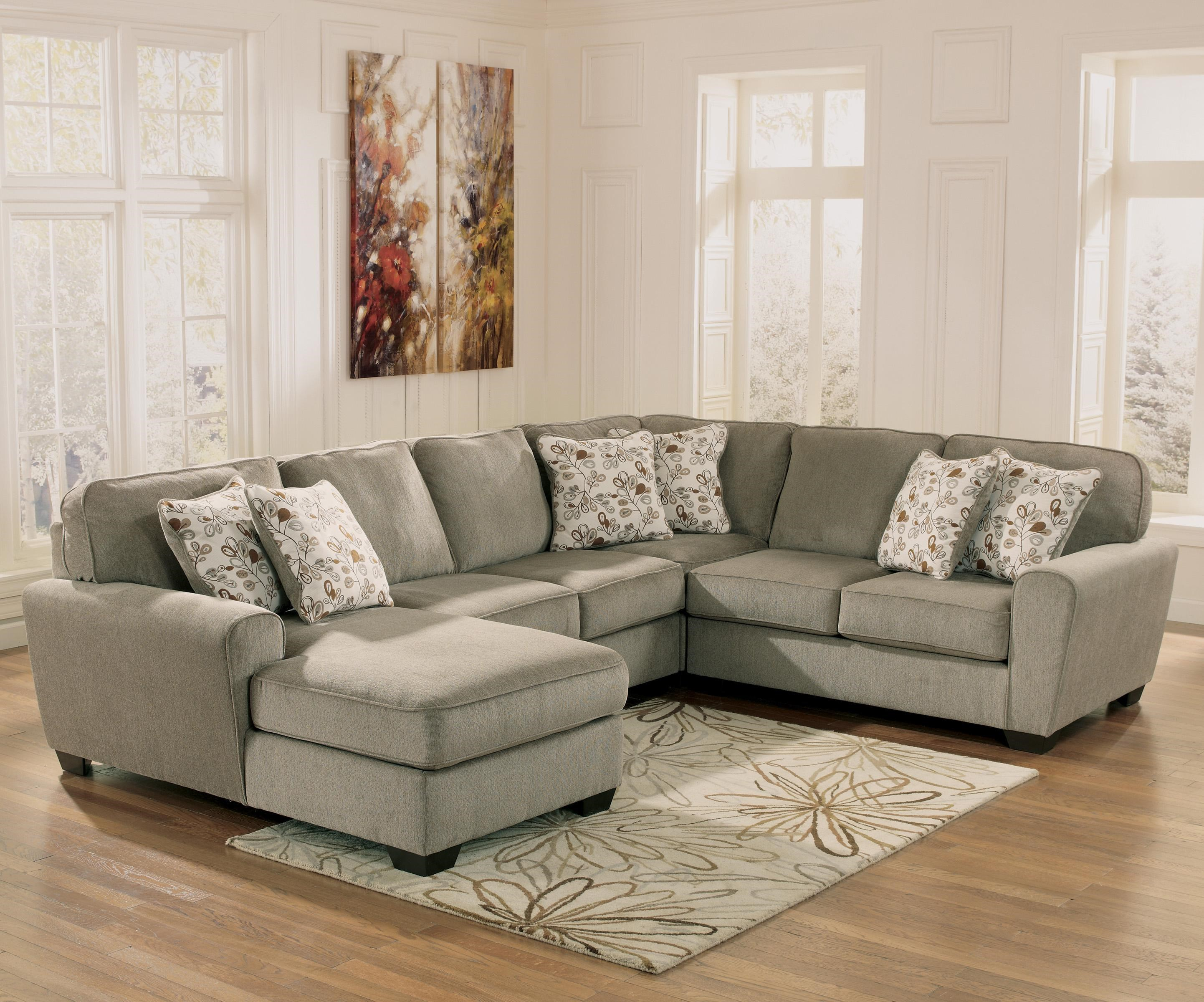 Patina 4 Piece Small Sectional With Left Chaise By Ashley Furniture At  Rotmans