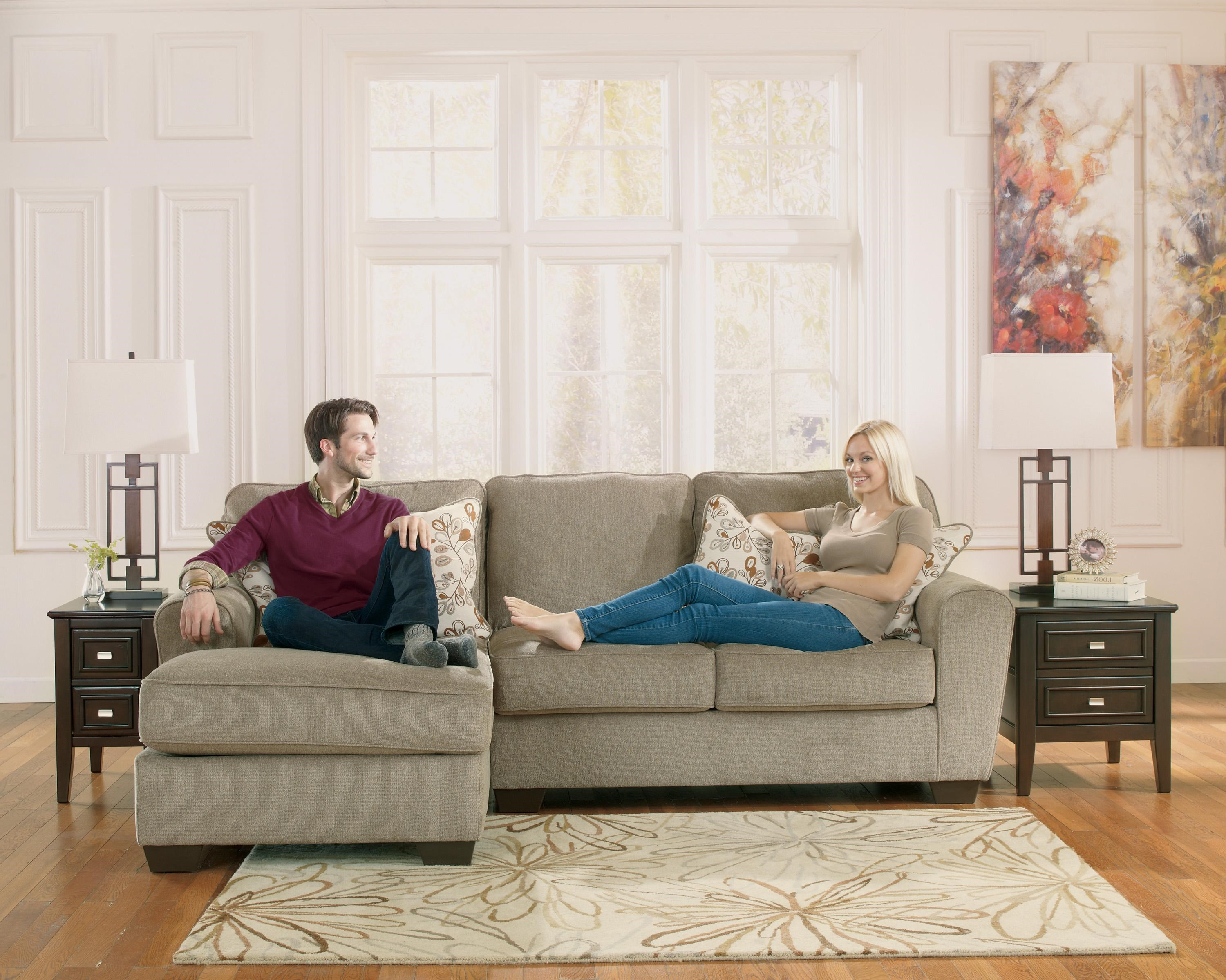 Ashley Furniture Patola Park - Patina 2-Piece Sectional with Left Chaise : ashley furniture patola park sectional - Sectionals, Sofas & Couches