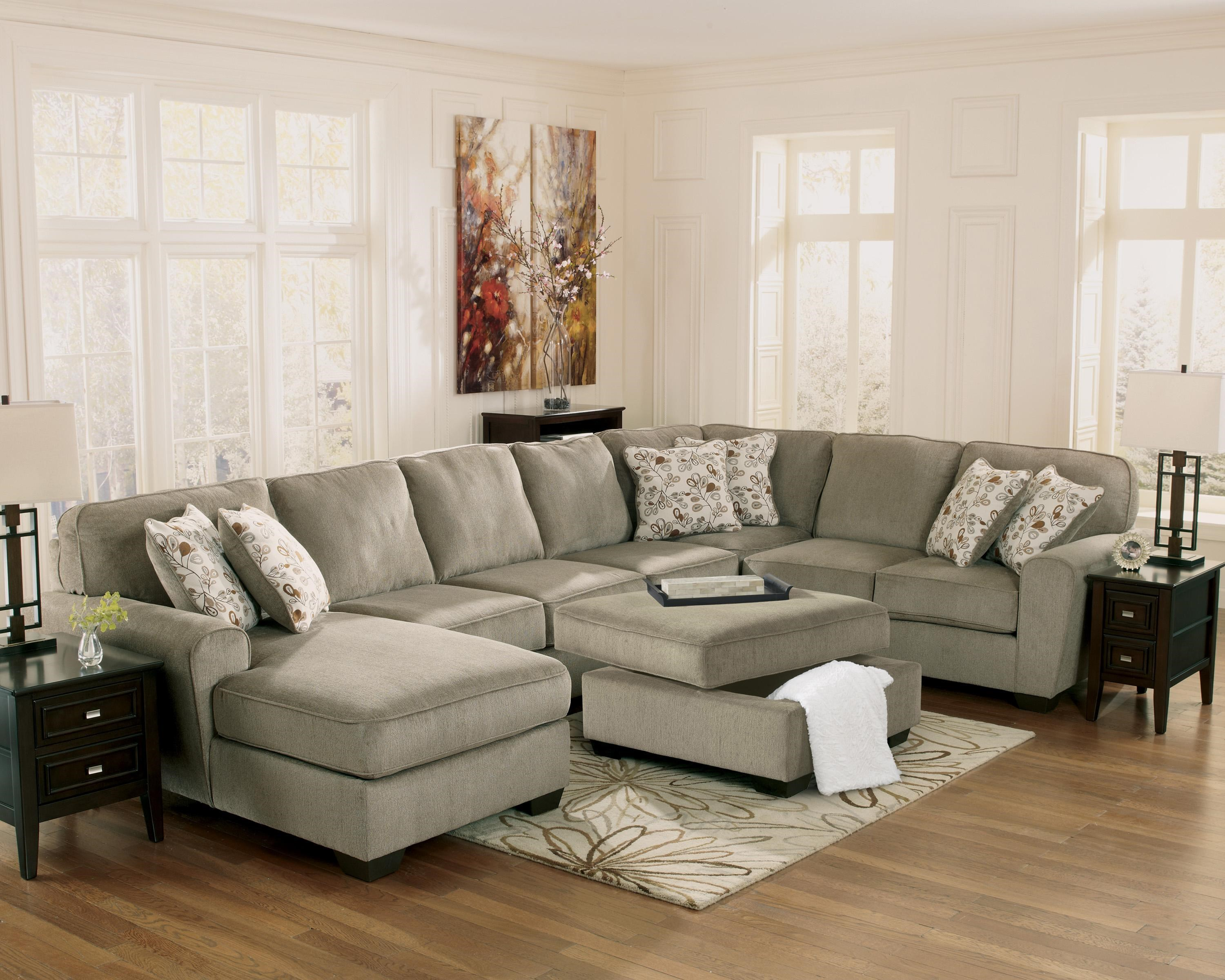 Ashley Furniture Patola Park - Patina 4-Piece Sectional with Left Chaise : ashley furniture patola park sectional - Sectionals, Sofas & Couches