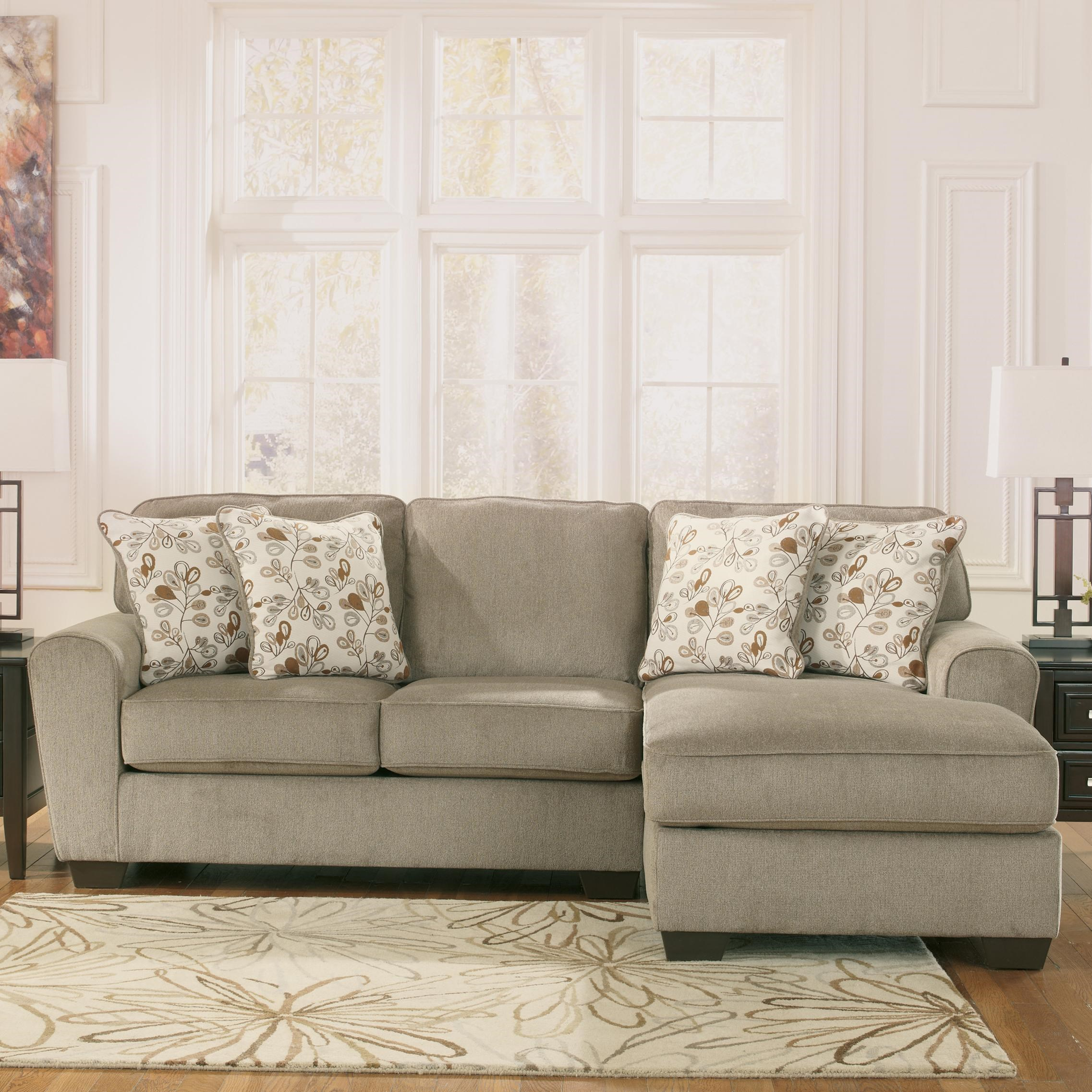 ashley furniture patola park patina 2piece sectional with right chaise john v schultz furniture sofa sectional