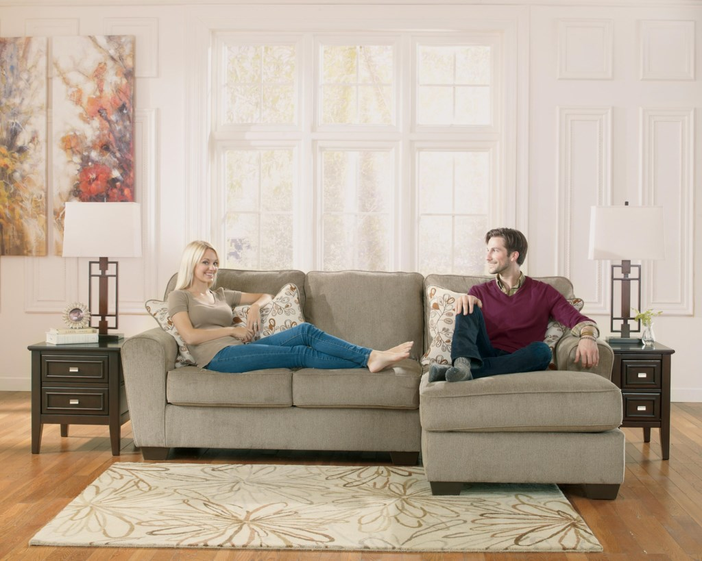 Ashley Furniture 2 Piece Sectional ashley furniture patola park - patina 2-piece sectional with right