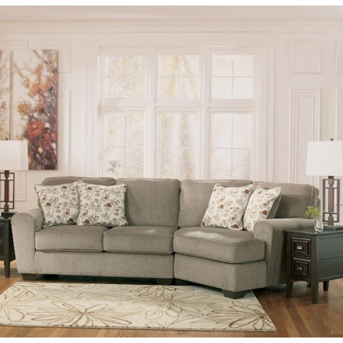 Ashley Furniture Patola Park Patina 2 Piece Sectional With Right Cuddler Furniture Options