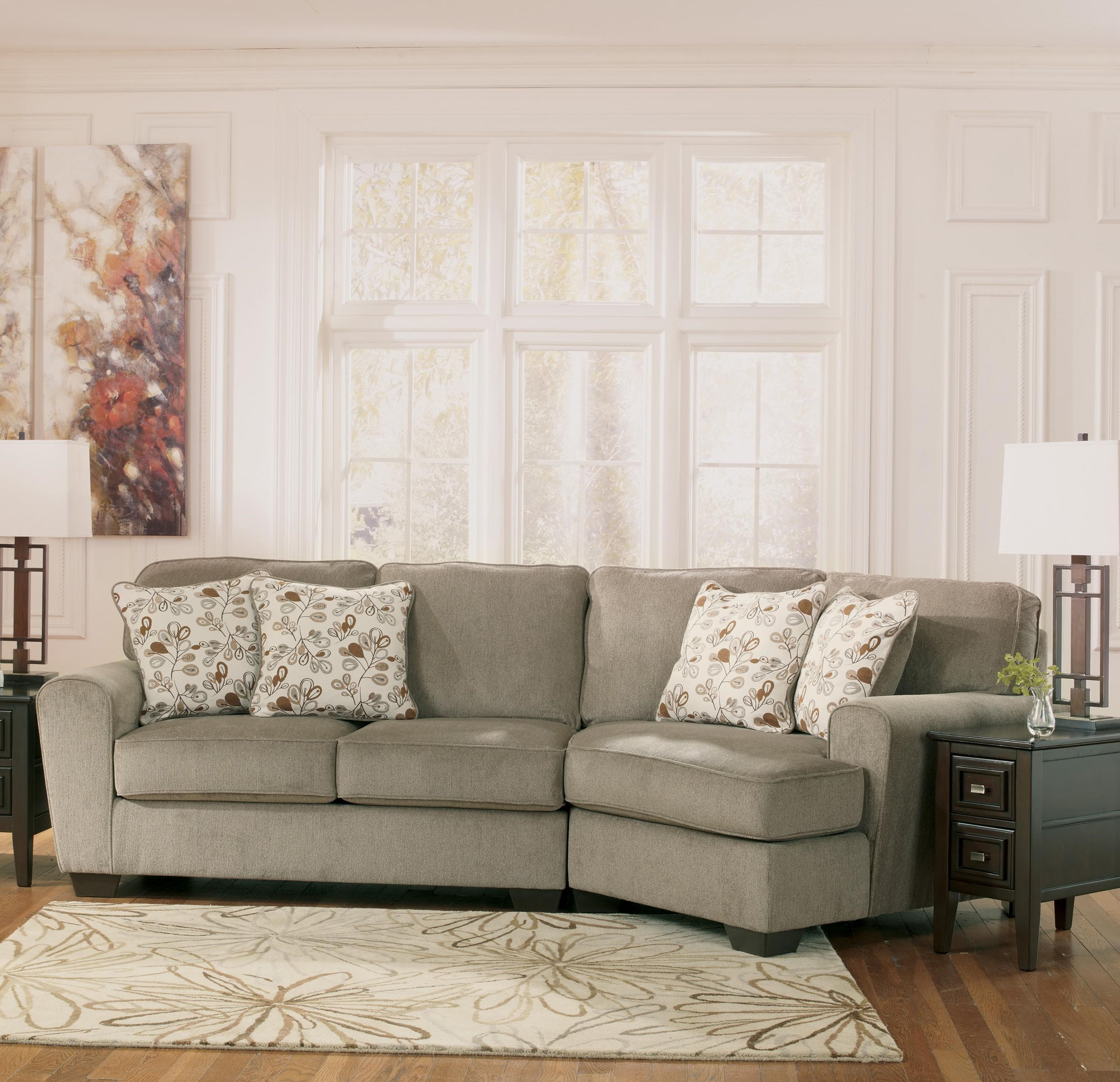 Ashley Furniture Patola Park   Patina2 Piece Sectional With Right Cuddler  ...