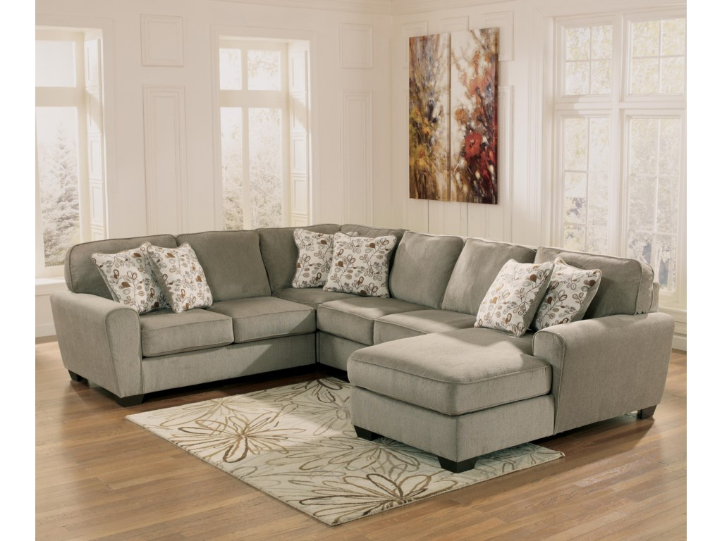 Ashley Furniture Patola Park Patina 4 Piece Small Sectional With