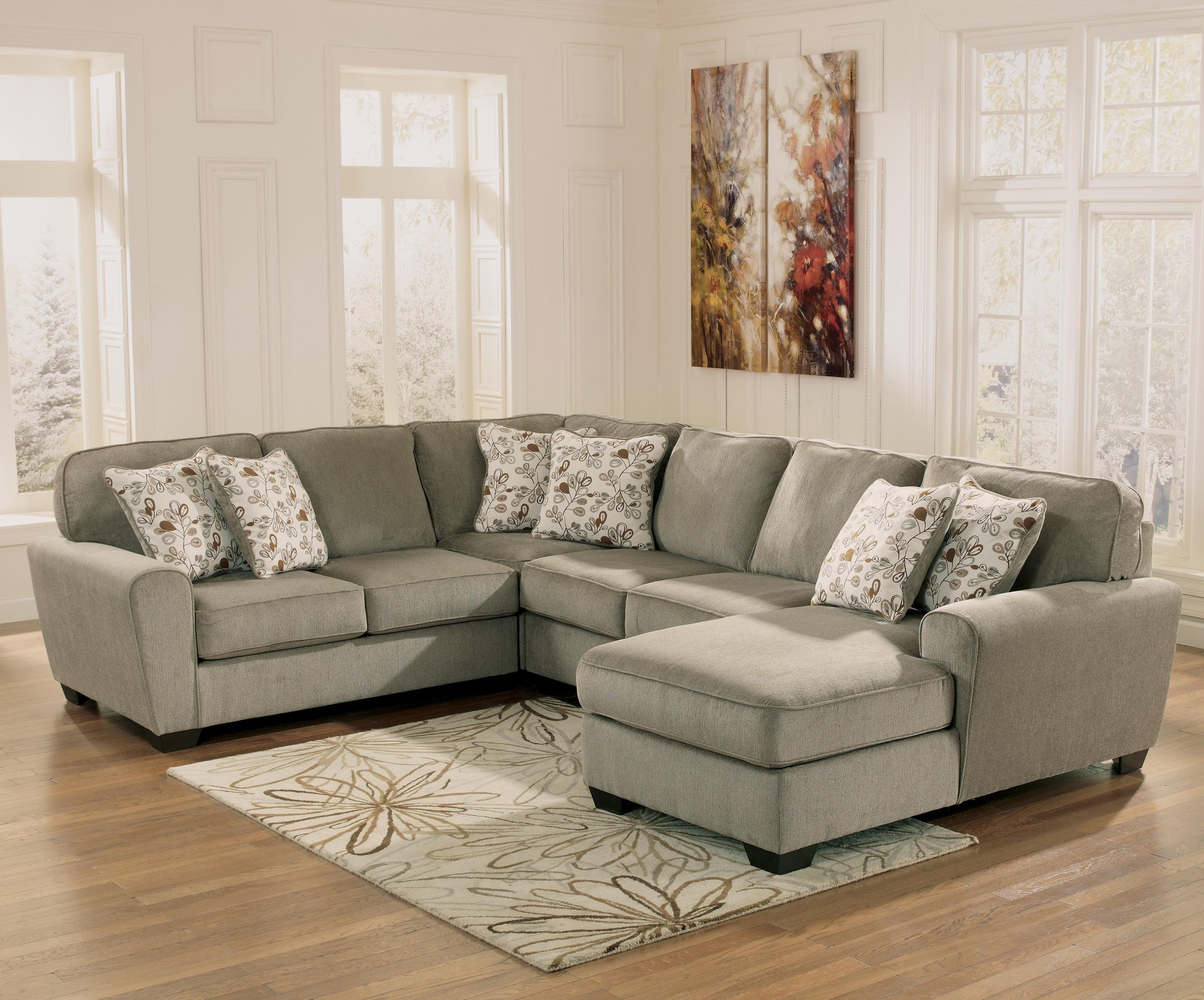 Ashley Furniture Patola Park   Patina4 Piece Small Sectional With Right  Chaise ...