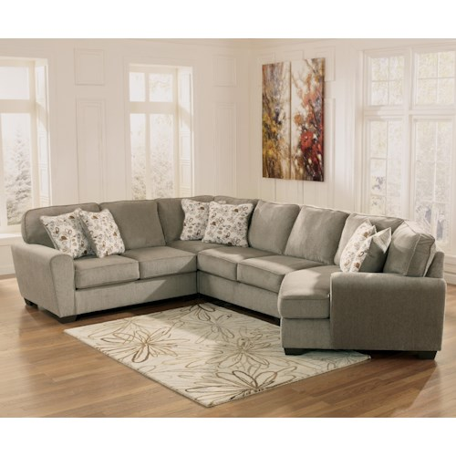 Patina 4-Piece Small Sectional With Right Cuddler