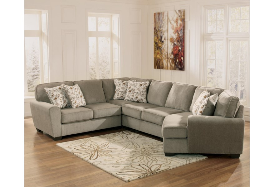 Patina 4 Piece Small Sectional With