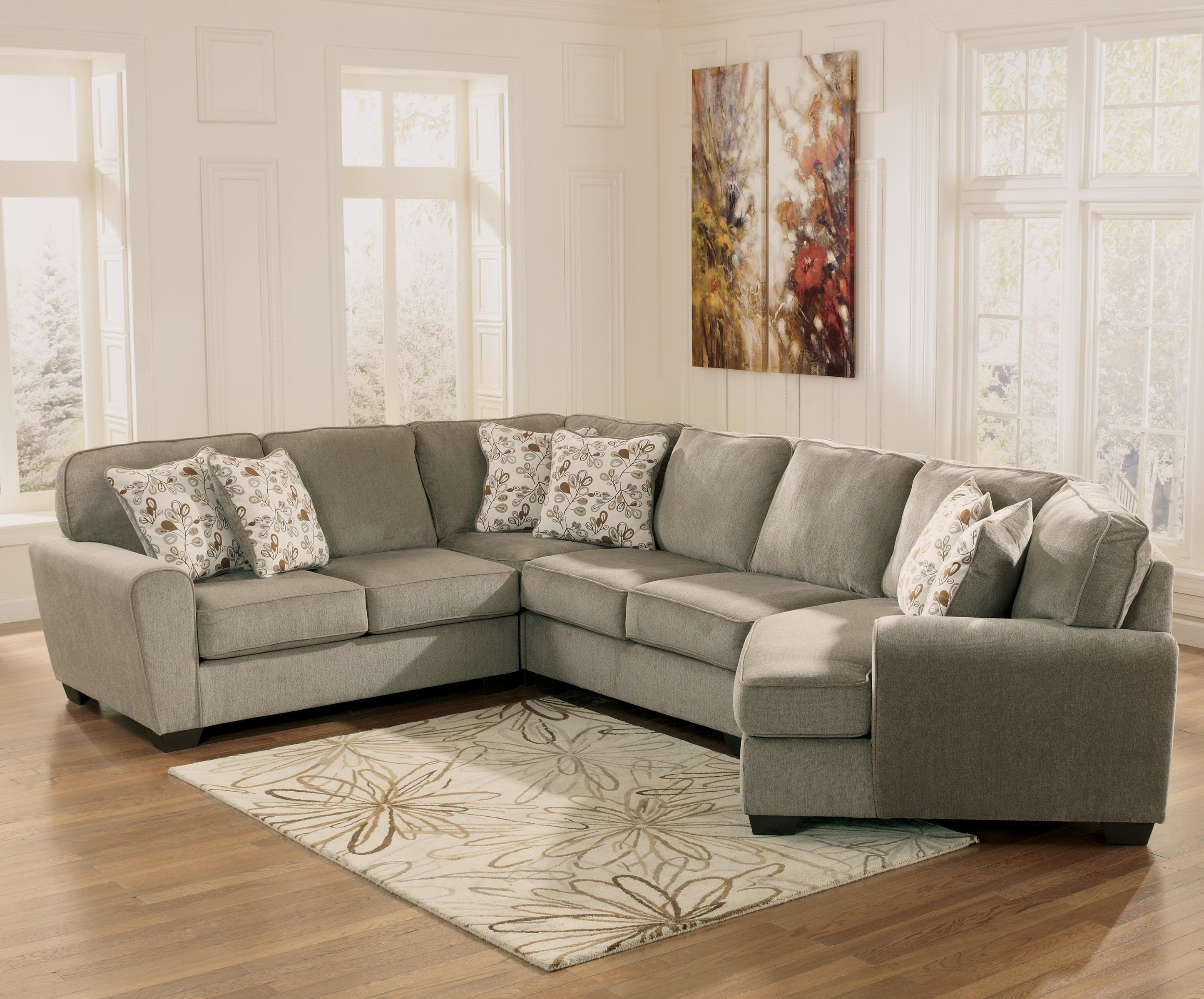 Gentil Ashley Furniture Patina4 Piece Small Sectional With Right Cuddler ...