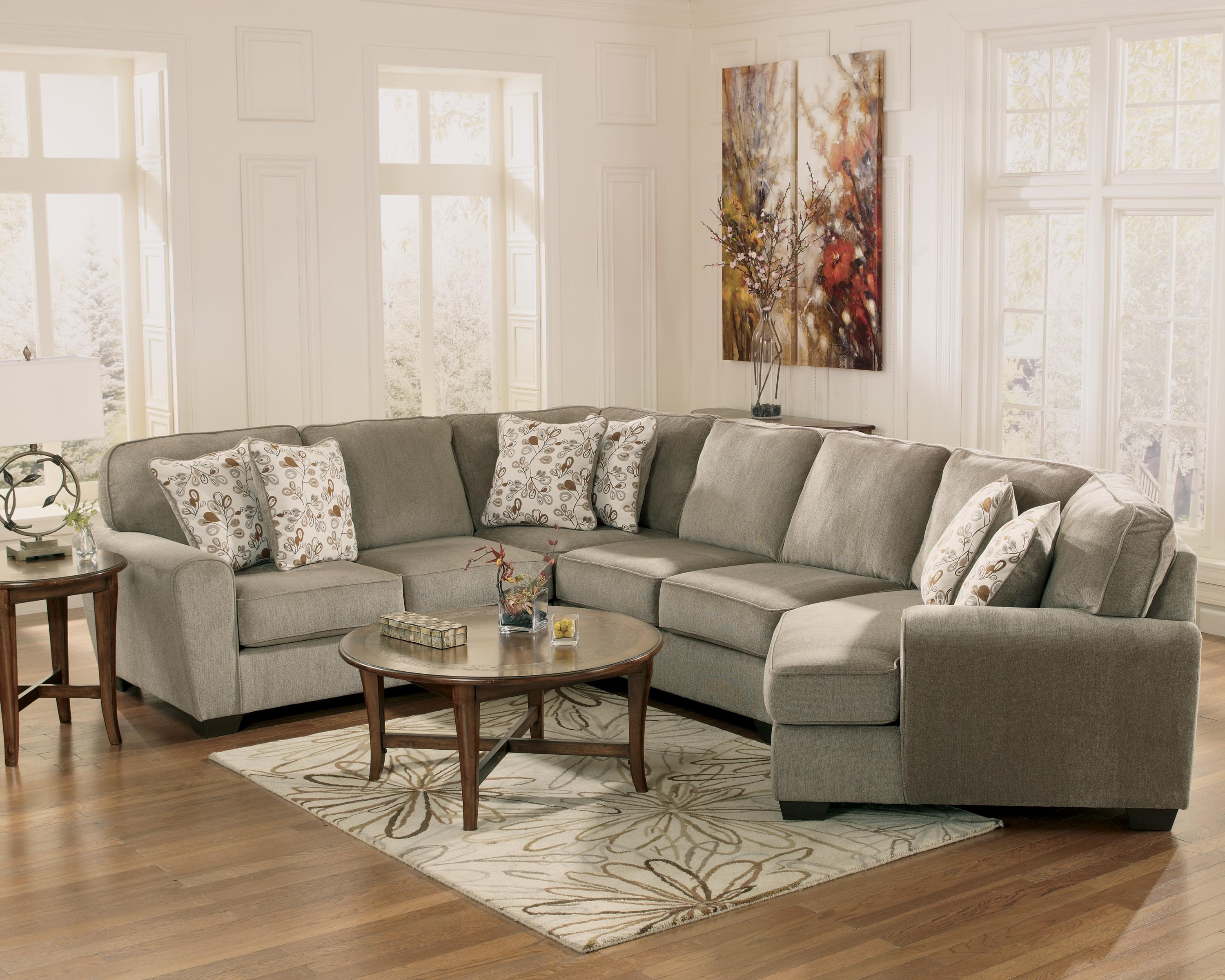 ... Ashley Furniture Patola Park   Patina4 Piece Small Sectional With Right  Cuddler ...