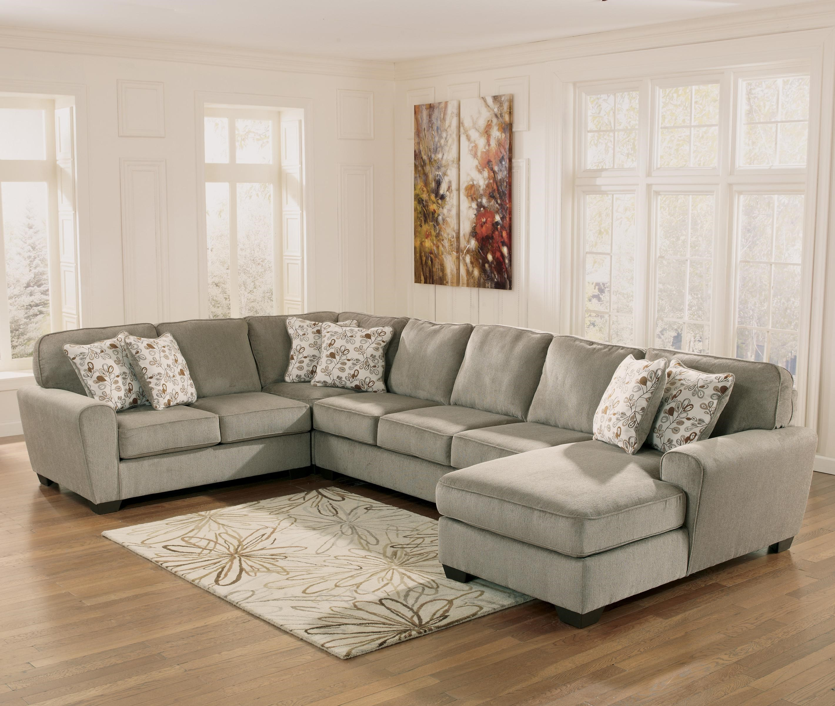 Beau Ashley Furniture Patola Park   Patina 4 Piece Sectional With Right Chaise