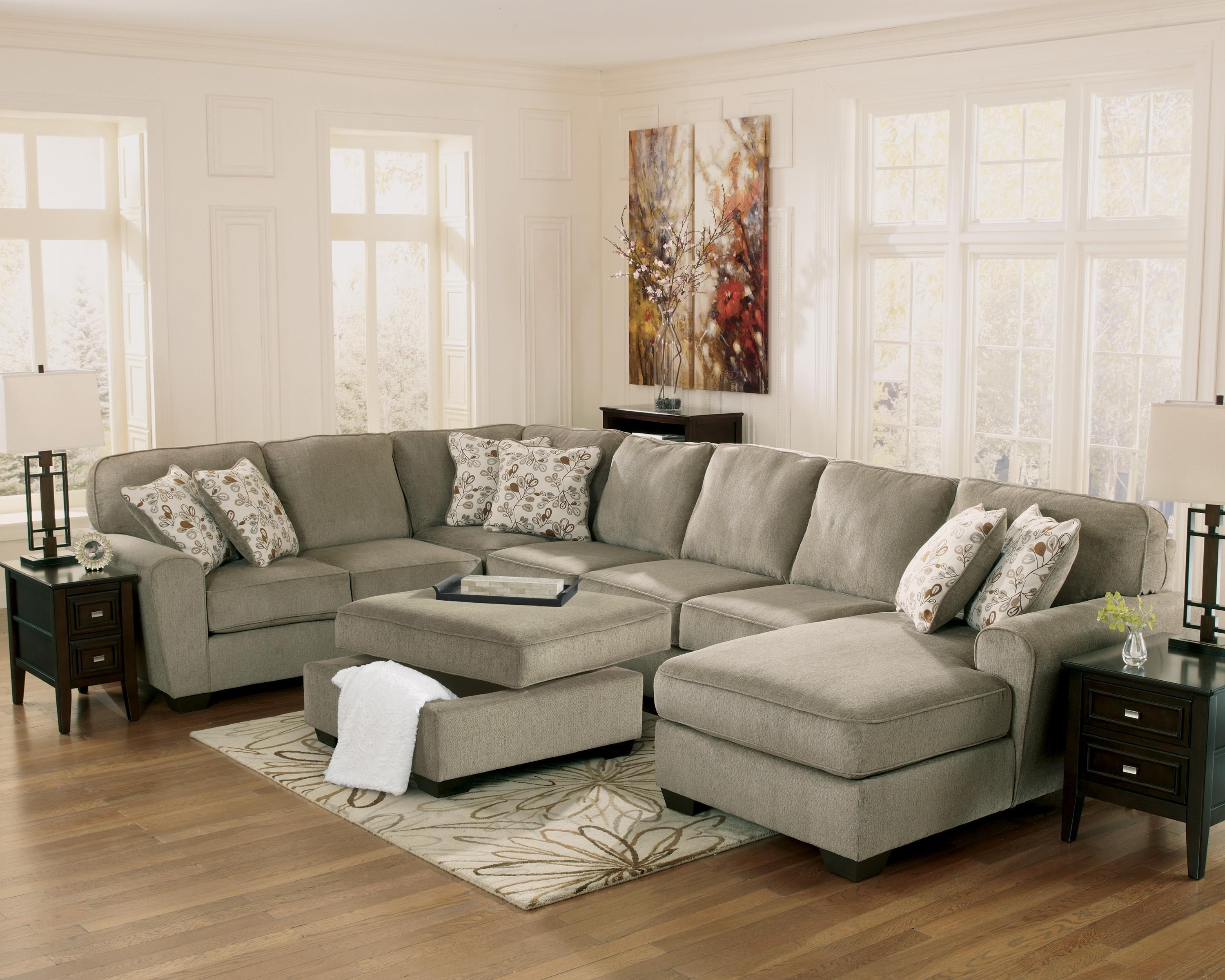 Patola Park - Patina 4-Piece Sectional with Right Chaise by Ashley Furniture : brighton park sectional - Sectionals, Sofas & Couches