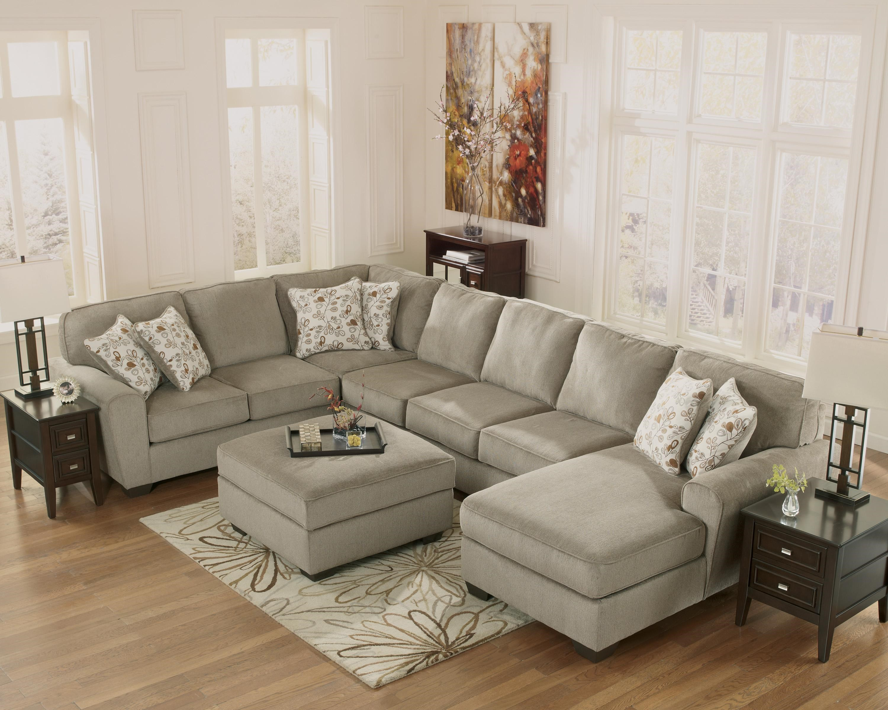 Ashley Furniture Patola Park   Patina 4 Piece Sectional With Right Chaise