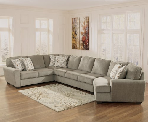 Ashley Furniture Patola Park Patina 4 Piece Sectional With Right Cuddler Northeast Factory