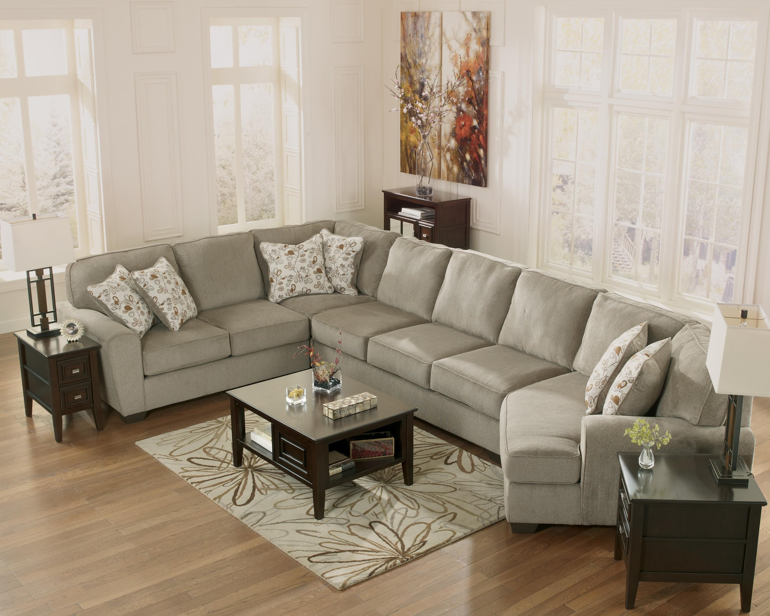 Patola Park - Patina 4-Piece Sectional with Right Cuddler by Ashley Furniture : ashley furniture patola park sectional - Sectionals, Sofas & Couches