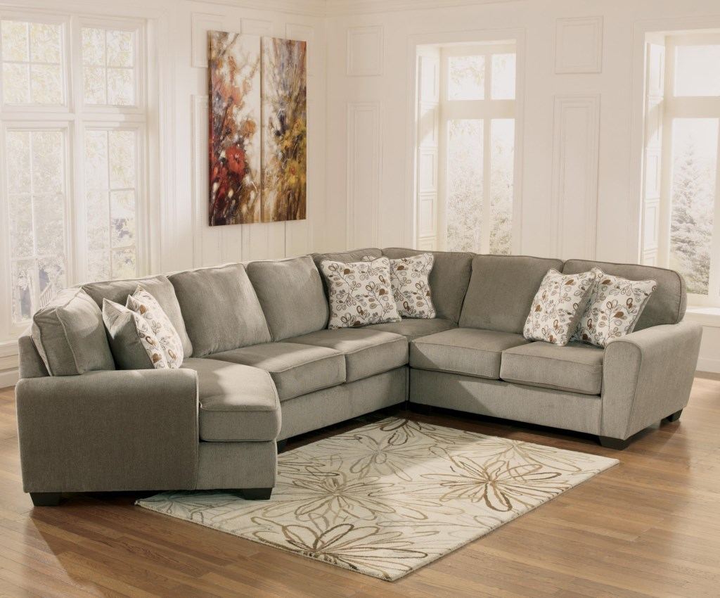 Ashley Furniture Patola Park Patina 4 Piece Small Sectional With  ~ Sectional Sofa With Cuddler
