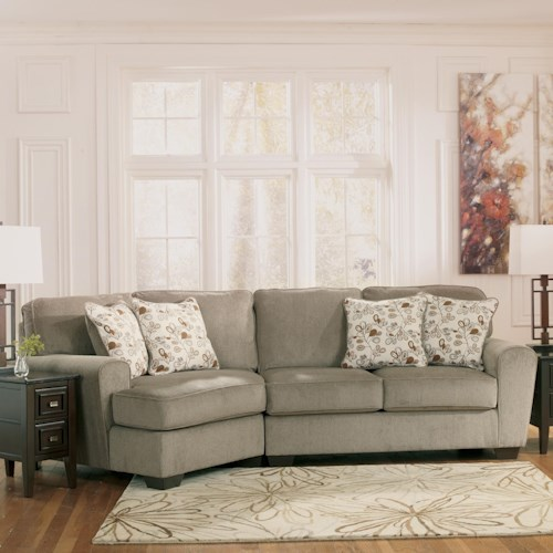 Ashley Furniture Patola Park Patina 2 Piece Sectional With Left Cuddler Van Hill Furniture