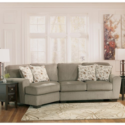 Ashley Furniture Patola Park - Patina 2-Piece Sectional with Left Cuddler