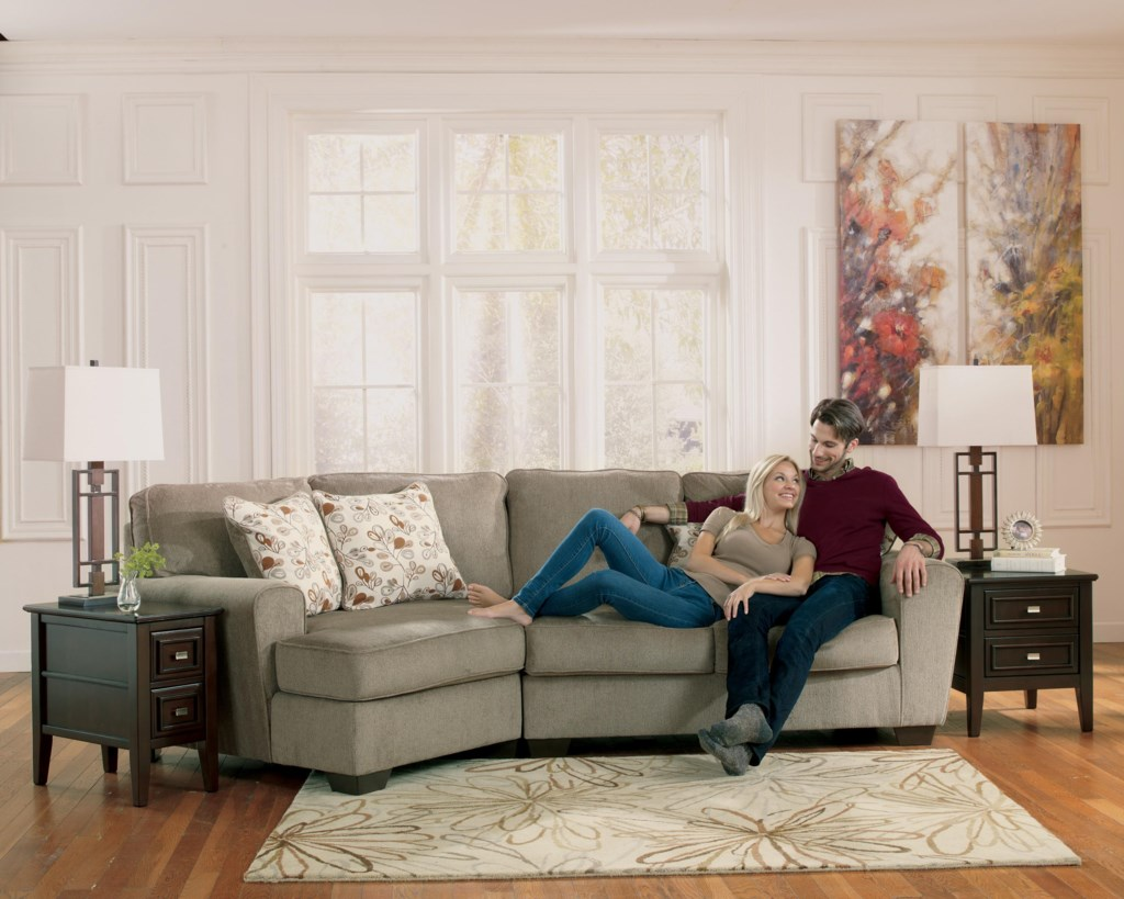 Patola Park Patina 2 Piece Sectional With Left Cuddler By Ashley Furniture At Turk Furniture