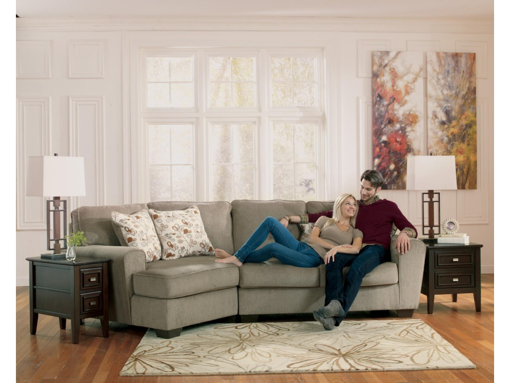 Ashley Furniture Patola Park - Patina2-Piece Sectional with Left Cuddler