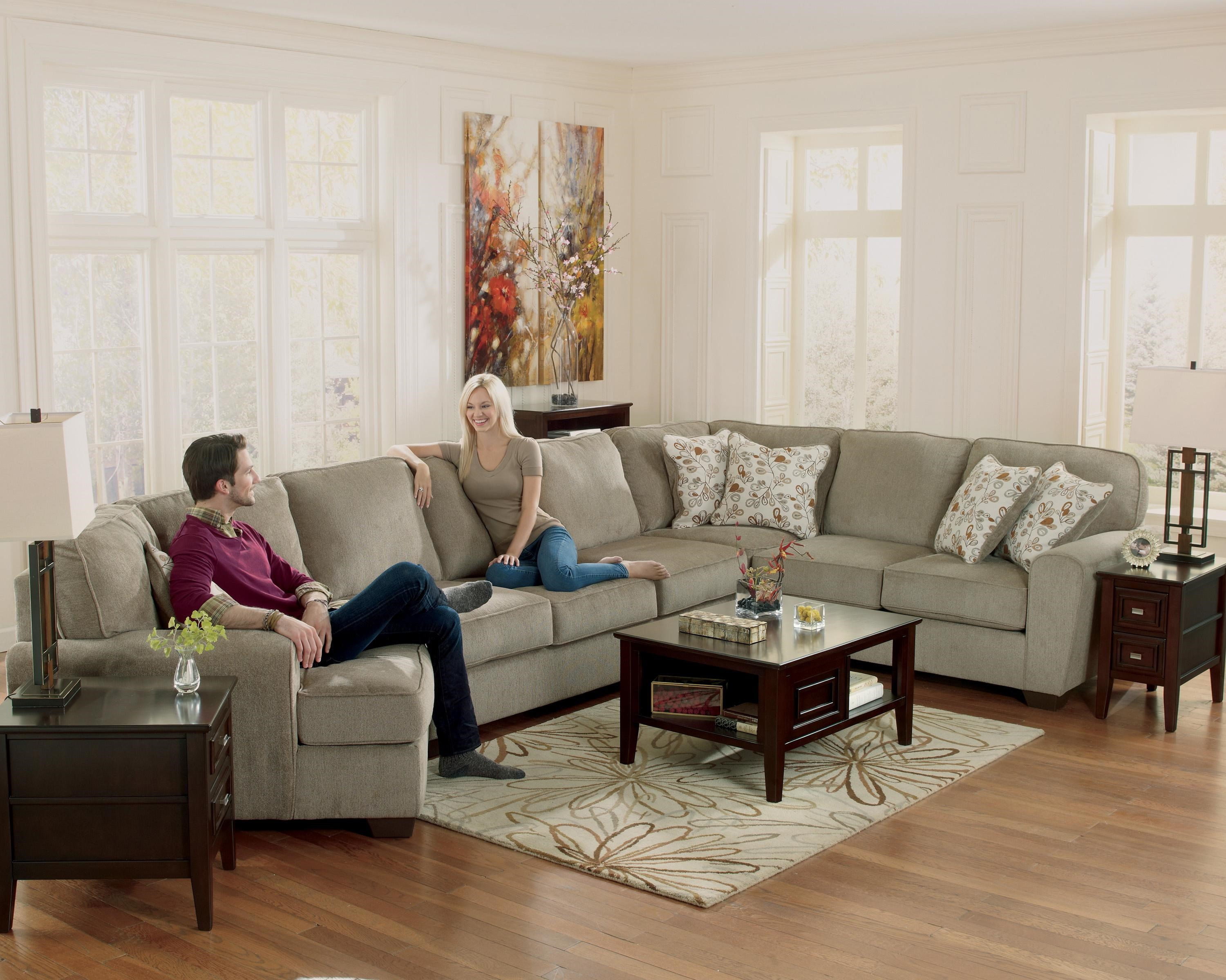 ... Ashley Furniture Patola Park   Patina4 Piece Sectional With Left Cuddler  ...