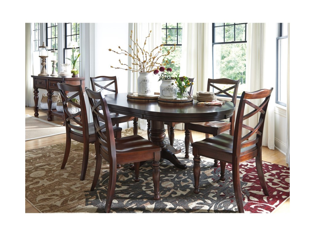 Ashley Furniture Porter Casual Dining Room Group Lapeer Furniture - Ashley furniture center table