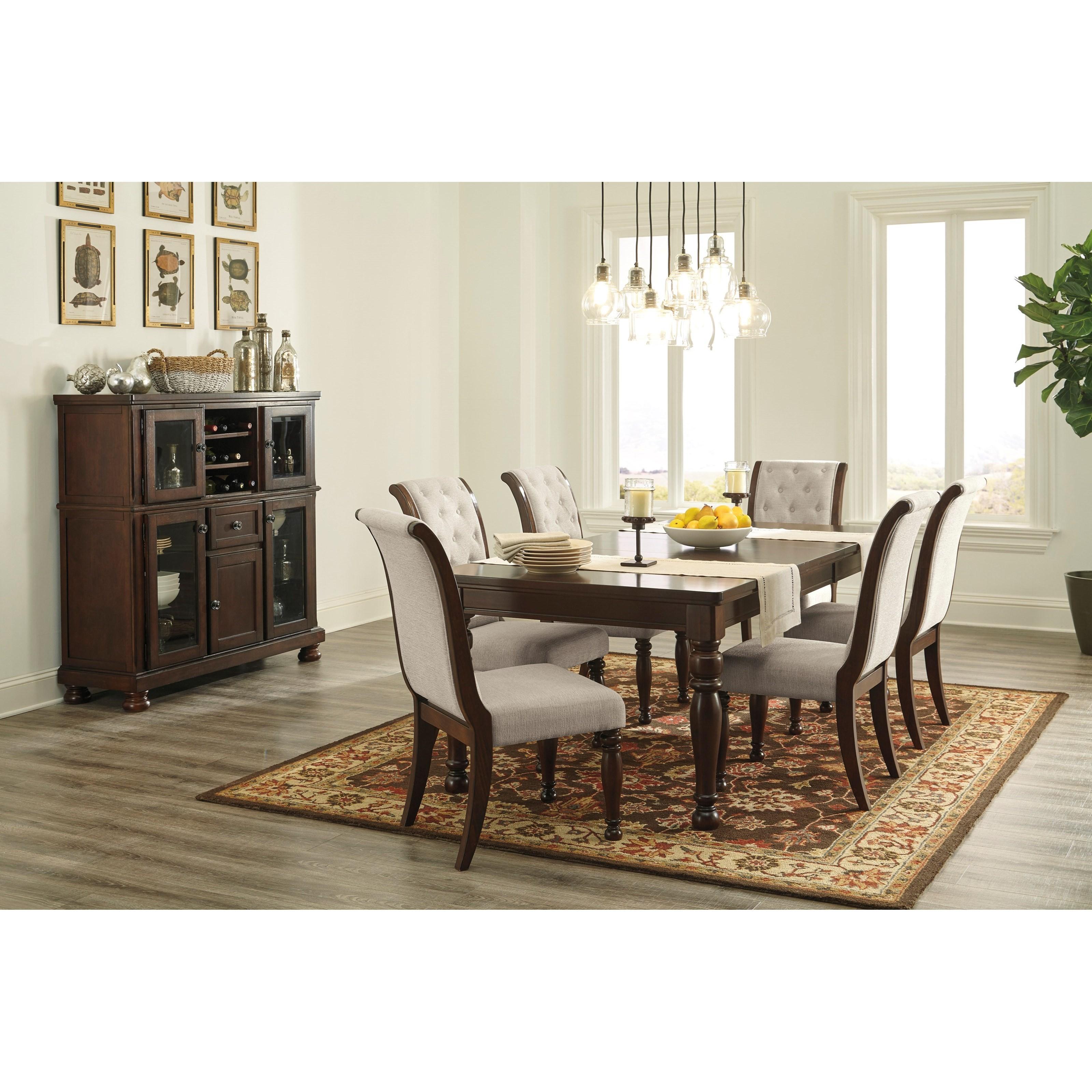 Ashley Furniture Porter Formal Dining Room Group Turk Rh Turkfurniture Com Hutch