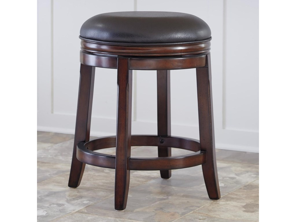 Millennium porter counter height backless upholstered swivel stool