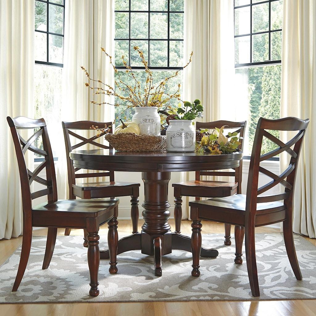 Ashley furniture porter5 piece round dining table set