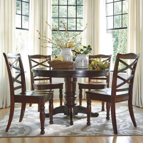 Ashley Furniture Porter 5 Piece Round Dining Table Set L Fish