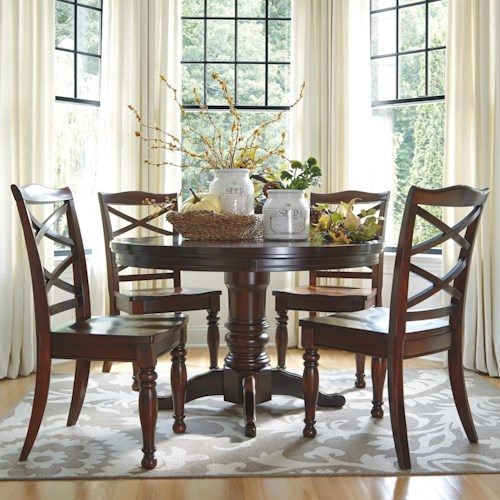 Ashley Furniture Porter Piece Round Dining Table Set Wayside - Ashley furniture white dining table