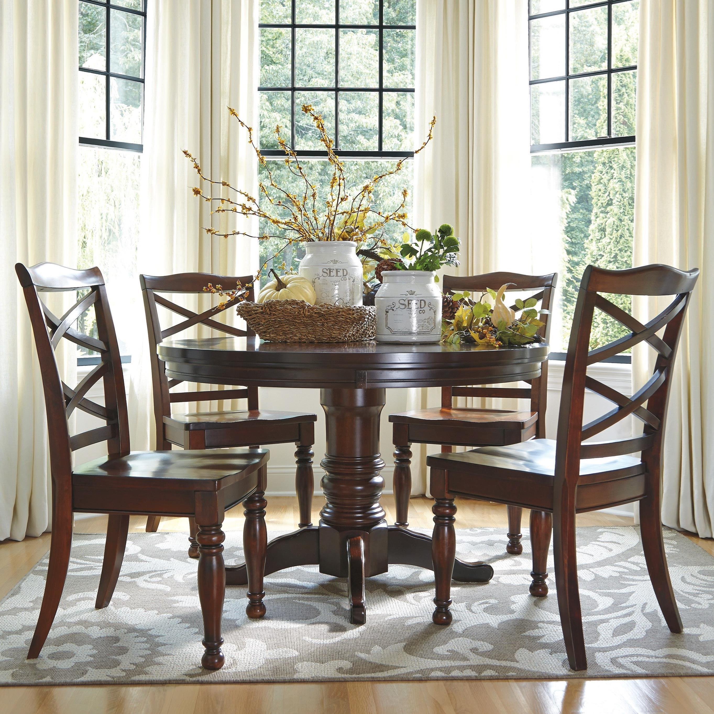 Ashley Furniture Porter5 Piece Round Dining Table Set ...