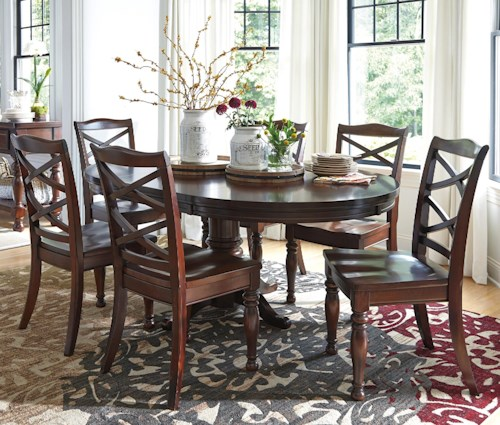 Ashley Furniture Porter 7 Piece Round Dining Table Set