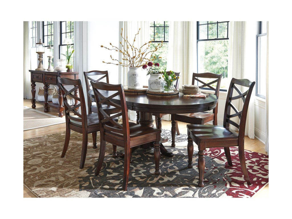 Ashley Furniture PorterRound Dining Room Pedestal Table