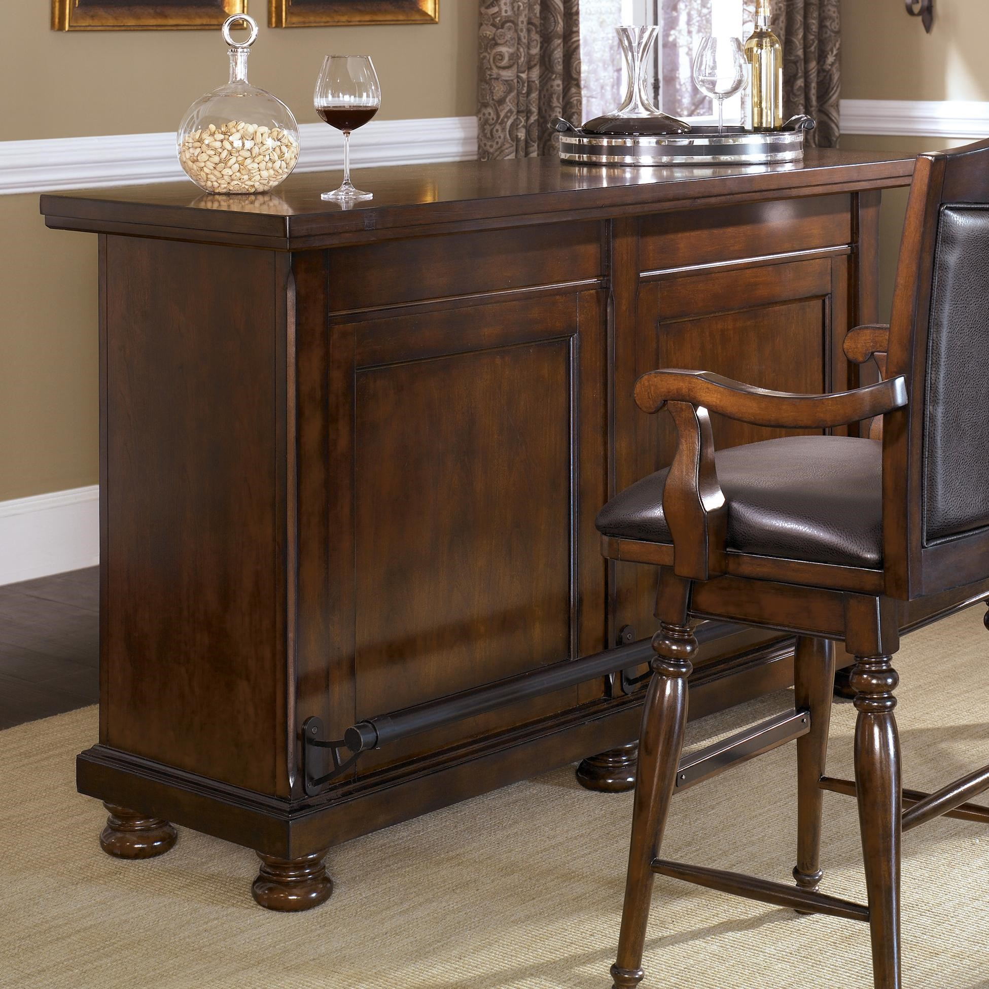 Ashley Furniture Porter Traditional Bar   Gill Brothers Furniture   Bars
