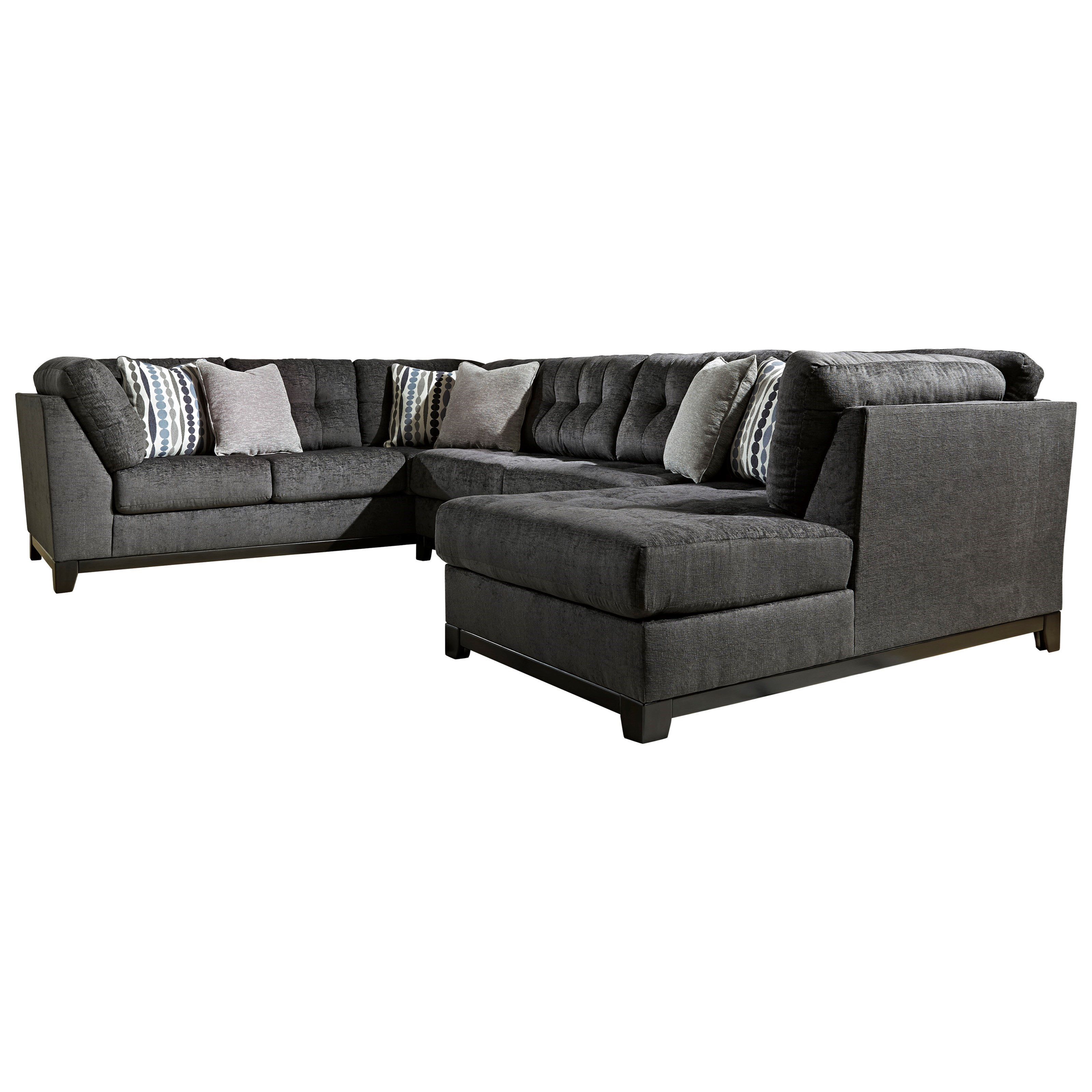 Ashley Furniture Reidshire Sectional Sofa With Right Side Chaise | Miskelly  Furniture | Sectional Sofas