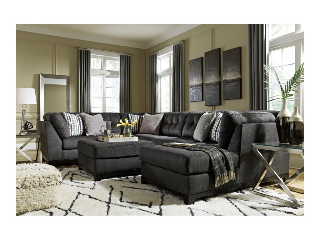 Ashley Furniture ReidshireSectional Sofa with Right Side Chaise
