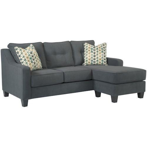 Ashley Furniture Shayla Contemporary Sofa Chaise With 2 Decorative Pillows And Customizable Bullard Sofas Fayetteville Nc