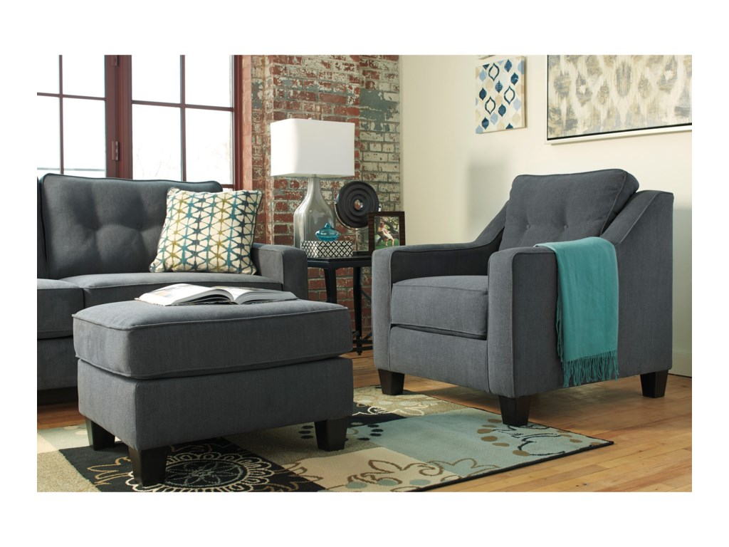 Ashley furniture shaylachair and ottoman