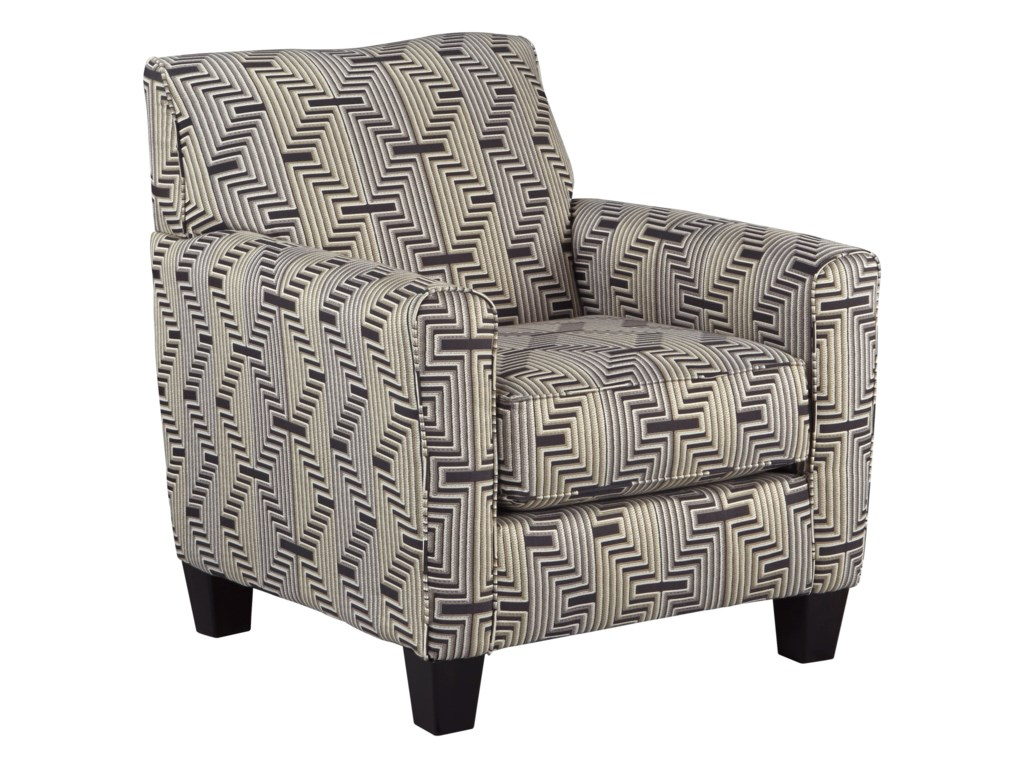 Torcello Accent Chair With Zig Zag Fabric Design By Ashley Furniture At Furniture And Appliancemart