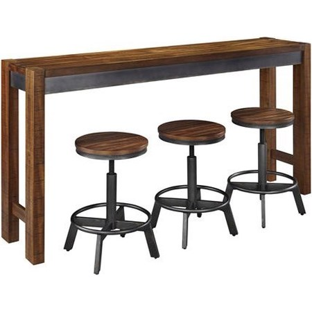 4 Piece Long Counter Table Set